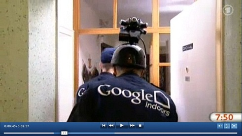 Google Indoors camera-head enters appartment